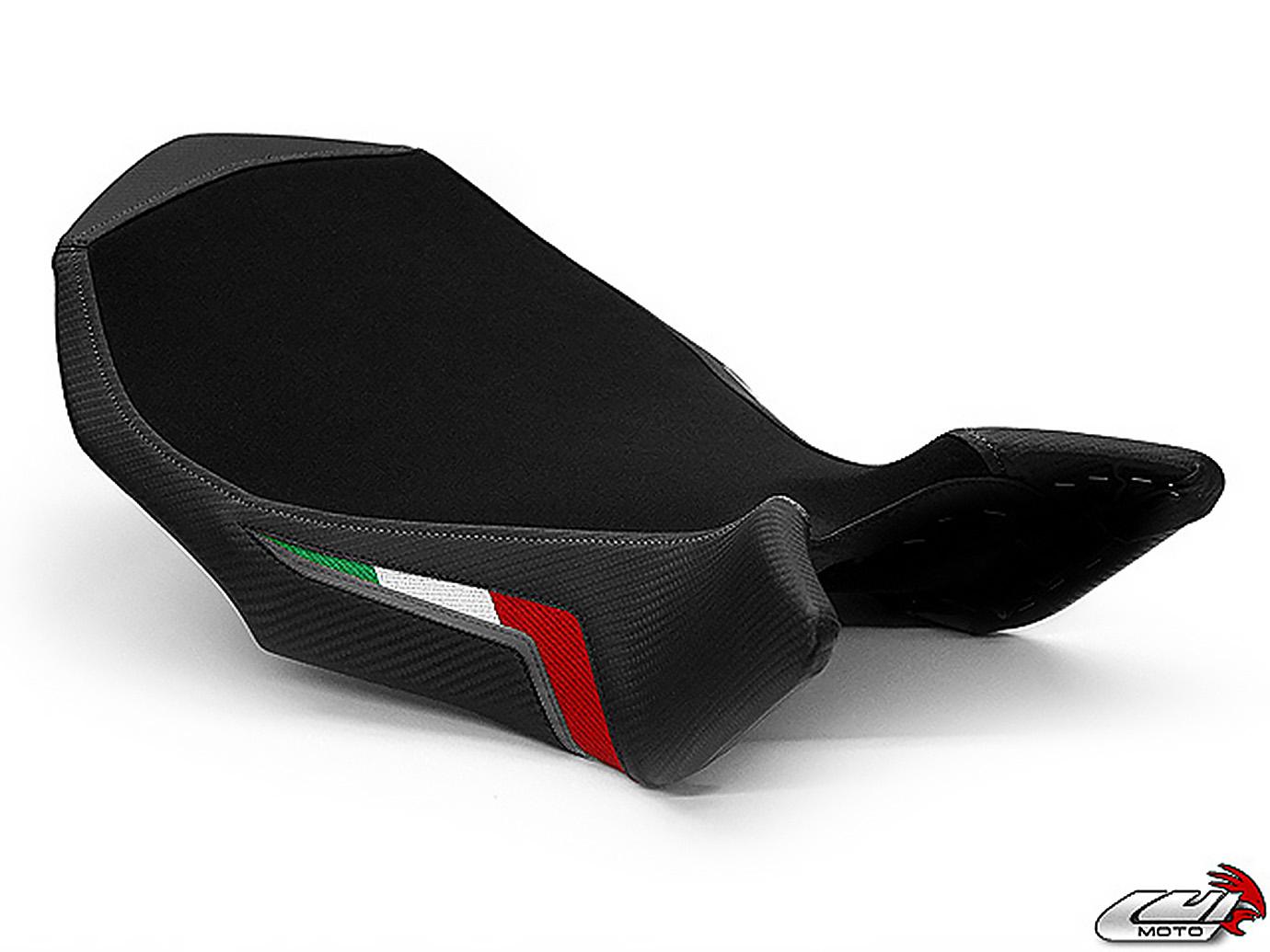 MV AGUSTA BRUTALE 990R 1090RR 09-18 LUIMOTO 製ライダーシートカバー (Team Italia Suede 7031102)