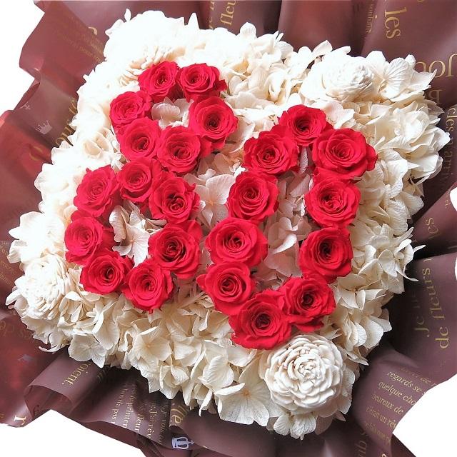 傘寿祝い プレゼント 花 数字 80入りプリザーブドフラワー あなたのご希望の数字(2ケタ)お作り致します ◆誕生日プレゼント・記念日の贈り物におすすめのフラワーギフト