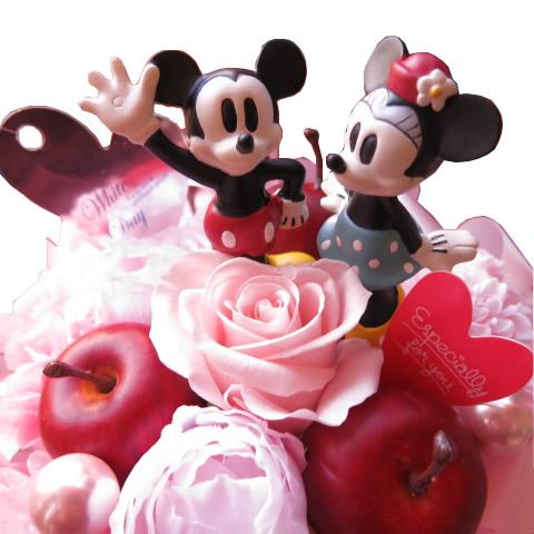 送料無料激安祭 クリスマスプレゼント ふるさと割 花 ディズニー フラワーギフト ラテ プリザーブドフラワー ミニーマウス 記念日の贈り物におすすめのフラワーギフト ノーマル 母の日プレゼント ケース付き ミッキーマウス