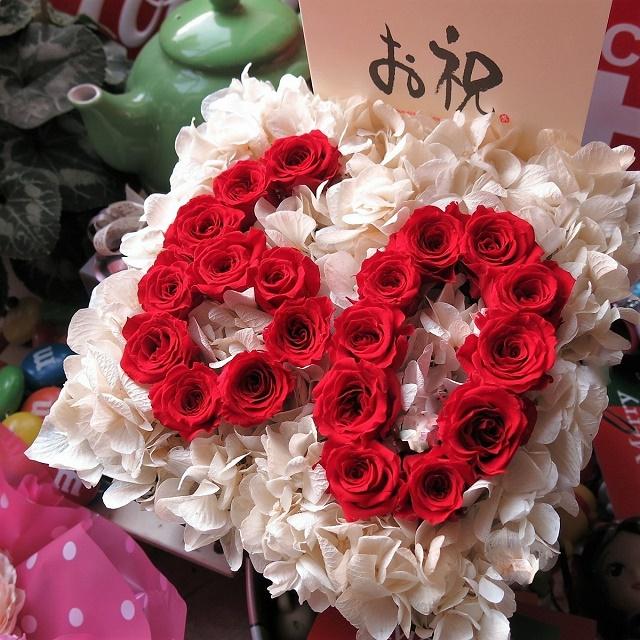 還暦祝い 数字60入り 赤バラ フラワーギフト プリザーブドフラワー ケース付き プリザーブドフラワー ◆還暦祝いプレゼント・記念日の贈り物におすすめのフラワーギフト