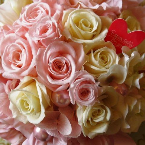 誕生日プレゼント フラワーギフト プリザーブドフラワー ピンク&ホワイト プリザーブドフラワー ◆誕生日プレゼント・記念日の贈り物におすすめのフラワーギフト