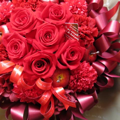 還暦祝い フラワーギフト プリザーブドフラワー 赤バラいっぱい プリザーブドフラワー ◆還暦祝いプレゼント・記念日の贈り物におすすめのフラワーギフト