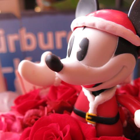 クリスマスプレゼント ディズニー 花 フラワーギフト ミッキー入り プリザーブドフラワー ケース付き