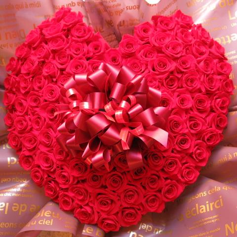 プロポーズ フラワーギフト ハート プリザーブドフラワー 赤バラ 100輪 ハート フラワーギフト プロポーズ 記念日ギフト サプライズ