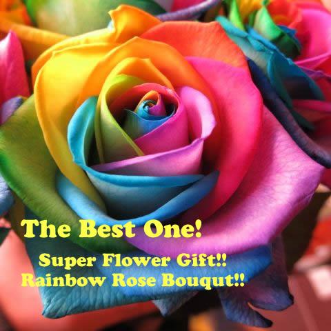 レインボーローズ 花束 レインボーローズ バラ100本 花束 サプライズなフラワーギフト レインボーローズ