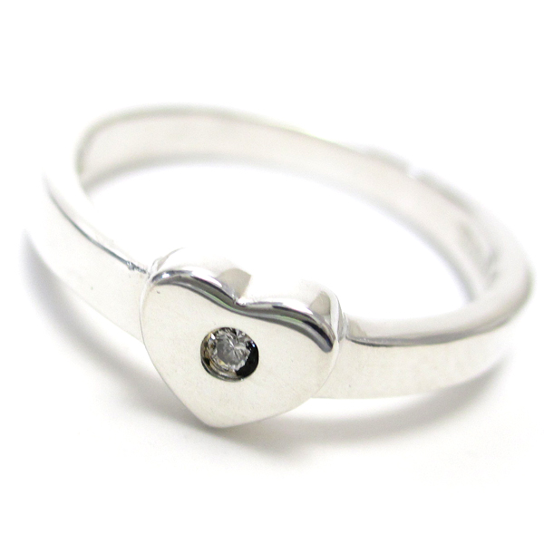 【中古】ティファニー パロマピカソ ハート レディース バンドリング ダイヤモンド 7.5号 婦人 磨き仕上げ済