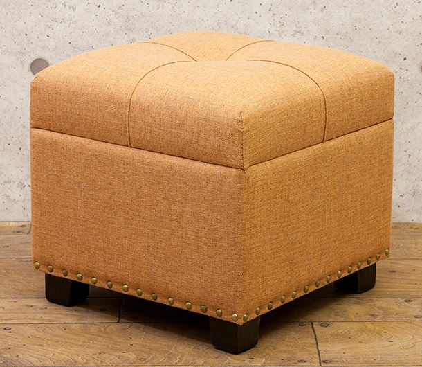 タイディ スツール スクエア Pale Orange オレンジ 収納 ボックス フレンチ 送料込み 商い ナチュラル SZ-534-OR チェア 最安値に挑戦 シャビー 姫系 輸入家具 正方形
