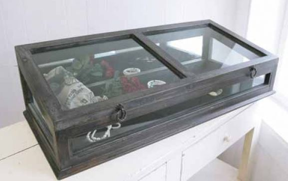 輸入家具 ノアール ガラスショーケース コベントガーデン Covent コレクション 収納 ディスプレイ アンティーク風 シャビーシック IX-48