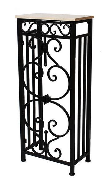 輸入家具 コンソール アイアン 大理石 コンパクト クラシック ナチュラル シャビーシック フレンチ アンティーク 姫系 FM-285-SS 38X22cm