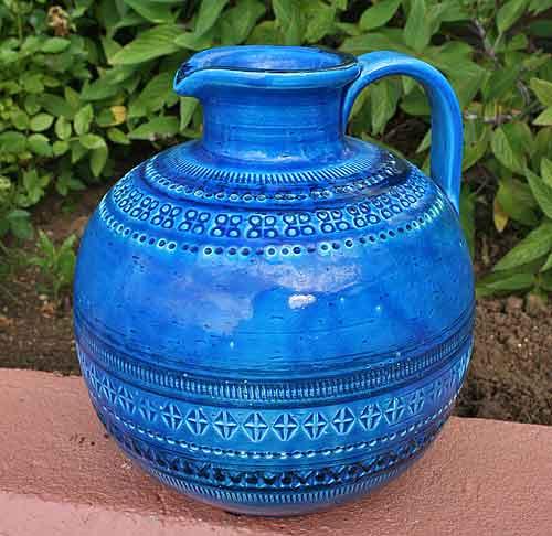 イタリア製 輸入雑貨 花瓶 Bitossi Flavia ビトッシ フラビア フラワーベース リミニ ブルー リビングスタジオ 直輸入 陶器 f114 送料無料