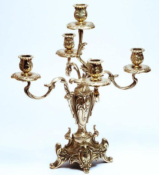 イタリア製 輸入雑貨 キャンドルスタンド 燭台 真鍮 リビングスタジオ 直輸入 置物 オブジェ ブラス スティーラ 姫系 sti-1097-5 送料無料