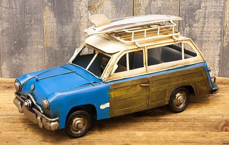 輸入雑貨 置物 ワゴン ワーゲン タイプ3 ブリキ ミニカー リビングスタジオ バリアント サーフボード ビンテージ アンティーク 0810E-1015