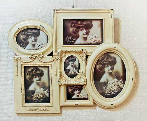 輸入雑貨 ウォールコレクションフレーム コベントガーデン Covent アンティーク フォトフレーム 写真 フレンチ シャビーシック 姫系 KB-37