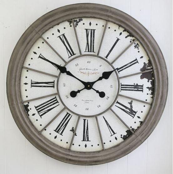 豊富な品 ルーヴル ラージ クロック ふるさと割 壁掛け時計 コベントガーデン シャビーシック アンティーク 輸入雑貨 全国送料無料 オルセー美術館 BX-92 大型 全国送料