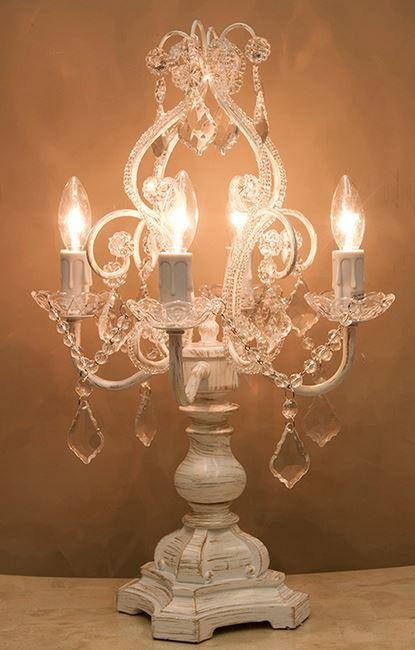 輸入雑貨 ランプ スタンド テーブルランプ ホワイト シャビーシック アンティーク ブロカンテ 照明 ナチュラル 姫系 SDL1248AW-2 送料無料