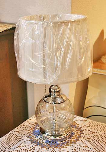 輸入雑貨 ランプ テーブルランプ カットガラス ヨーロピアン アンティーク イタリア フレンチ シャビーシック 卓上ランプ LF-520 送料無料
