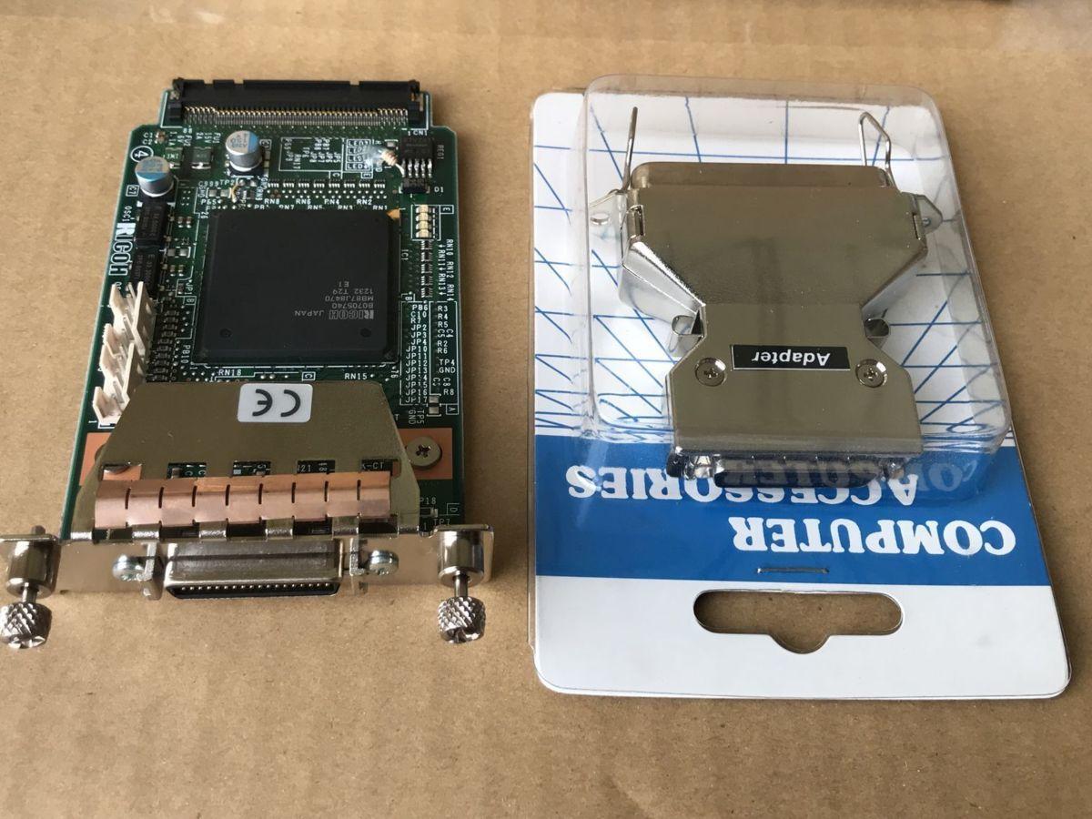 中古 本日限定 RICOH SP6320 SP6310対応 送料無料 未使用RICOH 拡張1284ボード 6320 SP6330 タイプA SP4310 4300対応中古 IEEE1284準拠の双方向パラレルインターフェースボード 着後レビューで 送料無料 6310