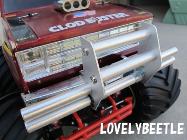 送料無料 LS1/10 スケール クラッドバスター・スーパークラッドバスター用 アルミ製 アニマルガードバンパー (カンガルーバー)