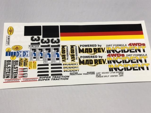 送料無料 1 10 RCL インシデント4WDs ビニールステッカーセット 今季も再入荷 RCLインターナショナル INCIDENT ダートフォーミュラー DART チャンピオンスパークプラグ 新作アイテム毎日更新 シンプソン 4WDs ペンゾイル ビルシュタインショック FORMULA MADREV アクセル ベルレイルブリカント