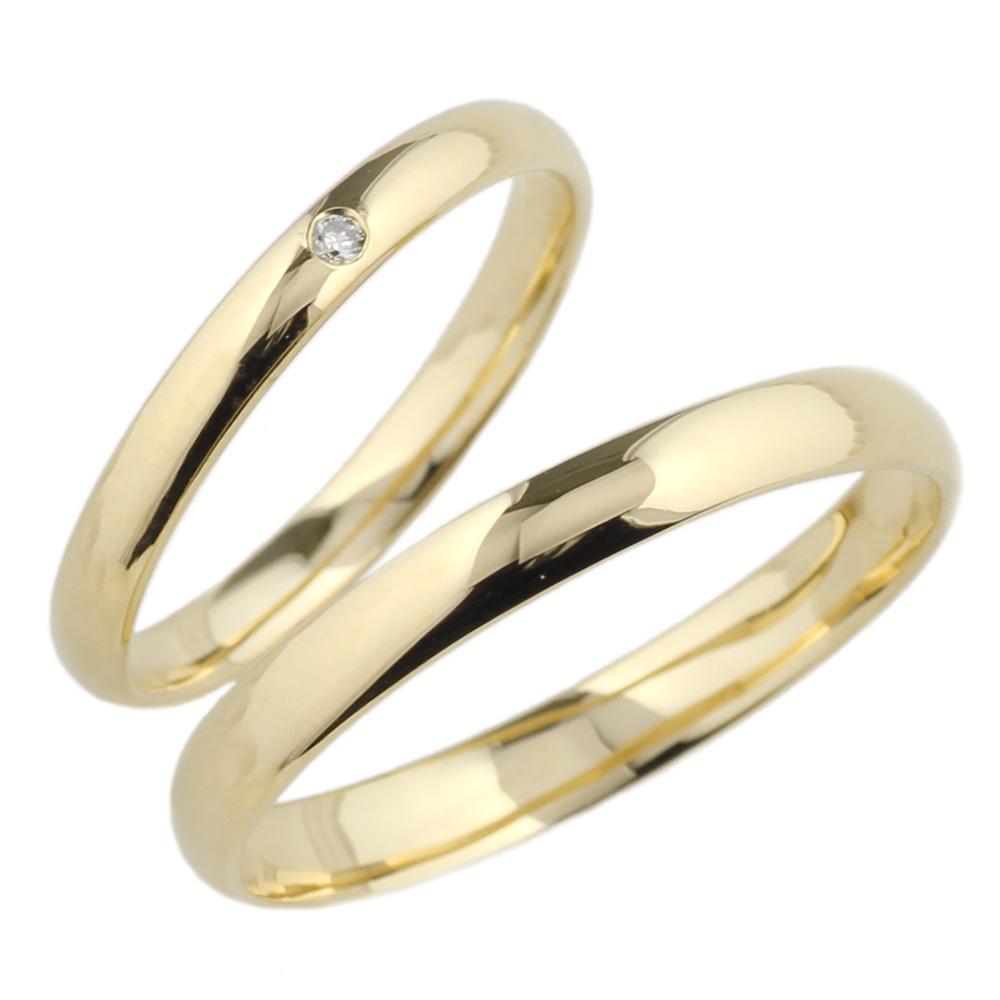 正規逆輸入品 ペアリング一粒石結婚指輪マリッジk18ゴールド ペアリング 一粒石 ダイヤリング 結婚指輪 送料無料 天然ダイヤモンド ゴールド マリッジリング 大決算セール K18