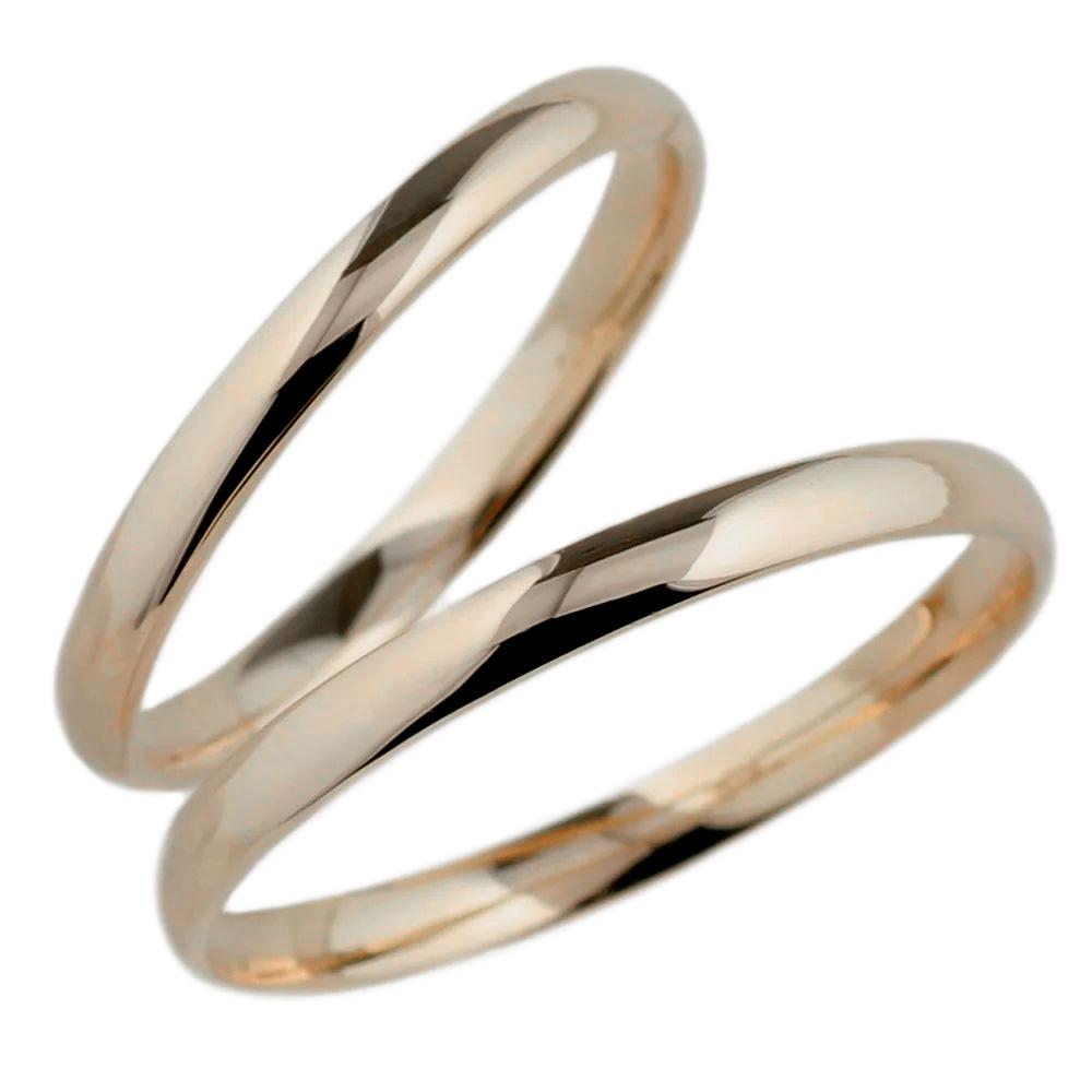 ペアリング 甲丸地金 結婚指輪 マリッジリング 2本セット 記念日 プレゼント 誕生日 k10ピンクゴールド