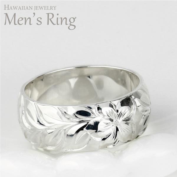 ハワイアンジュエリー ハワイアン メンズ リング シルバー sv925 SV925 地金リング 彫金 手彫り 結婚指輪 エンゲージリング ハンドメイド ハワイ ブライダル