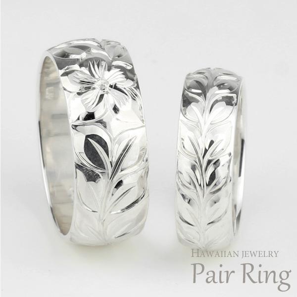 ハワイアンジュエリー ペアリング ハワイアン レディース メンズ リング シルバー925 SV sv925 地金リング 彫金 手彫り 結婚指輪 エンゲージリング ハンドメイド ハワイ ブライダル
