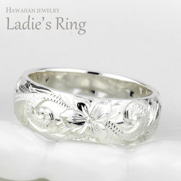 手彫り ハワイアンジュエリー レディースリング K18ゴールド ハワイアンジュエリー ハワイアン レディース リング K18ゴールド K18WG/YG/PG 地金リング 彫金 手彫り 結婚指輪 エンゲージリング ハンドメイド ハワイ ブライダル