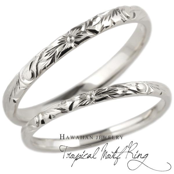 メンズ プルメリア 彫金 シルバー925 花 華奢 2個ペア SV925 人気 レディース プレゼント ハワイアンジュエリー 誕生日 ペアリング 男性 女性 波 スクロール ハワイアン 結婚指輪 指輪2本セット ギフト 手彫り 記念日