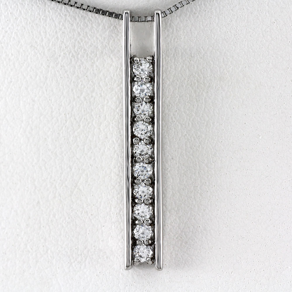 プラチナ ネックレス ダイヤモンド ペンダント レディース シンプル pt900