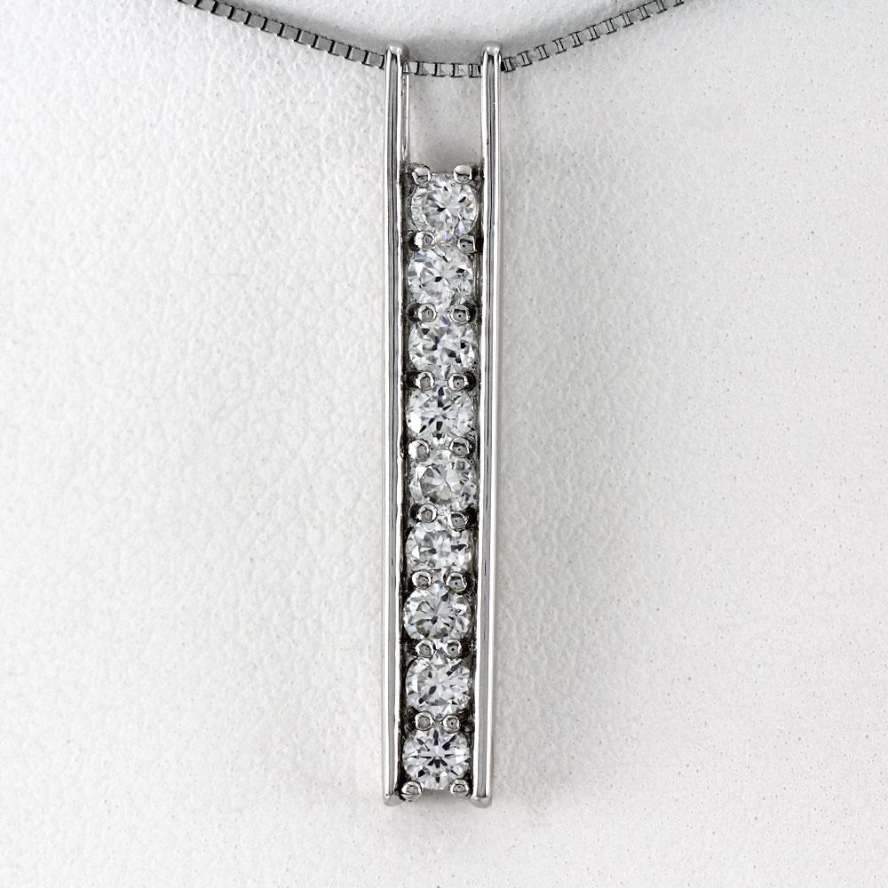 ネックレス ダイヤモンド ペンダント レディース シンプル 0.5カラット ゴールド k18 18k 18金