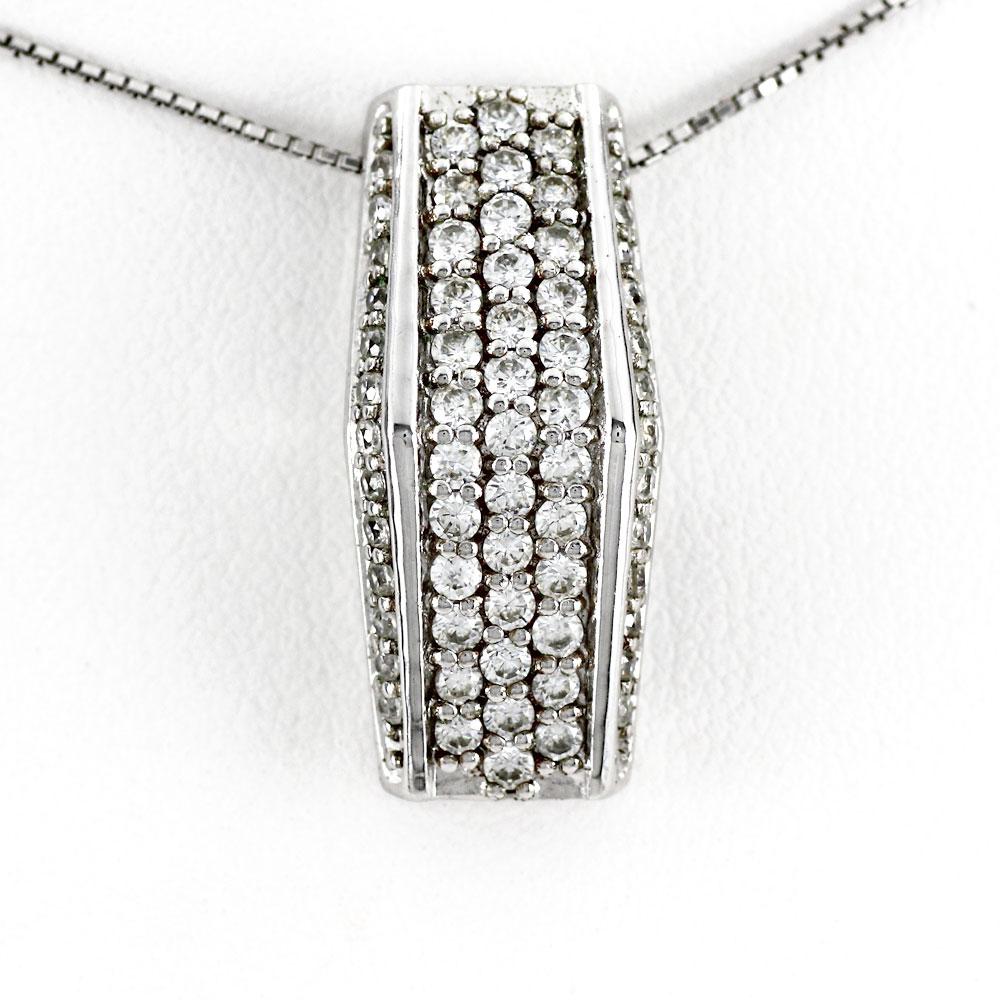ネックレス ダイヤモンド ペンダント レディース パヴェ ゴージャス アンティーク 1.0カラット ゴールド k18 18k 18金