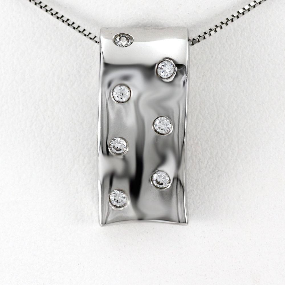 プラチナ ネックレス ダイヤモンド ペンダント レディース 地金 ドット pt900