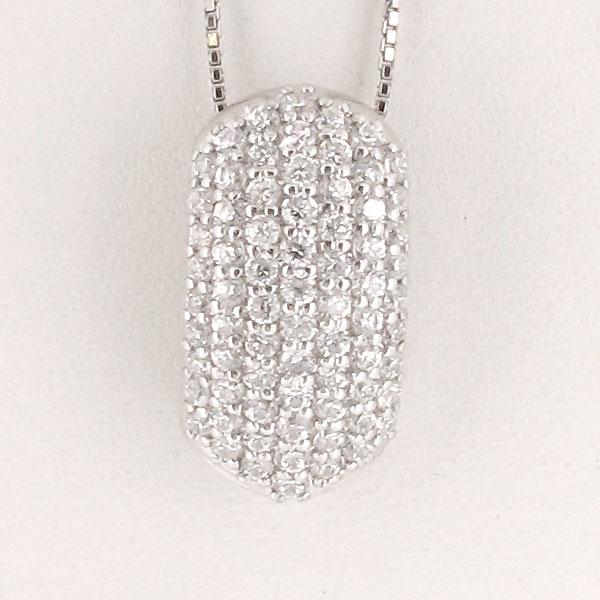 ネックレス ダイヤモンド ペンダント レディース パヴェ ゴージャス スクエア 1.0カラット ゴールド k18 18k 18金