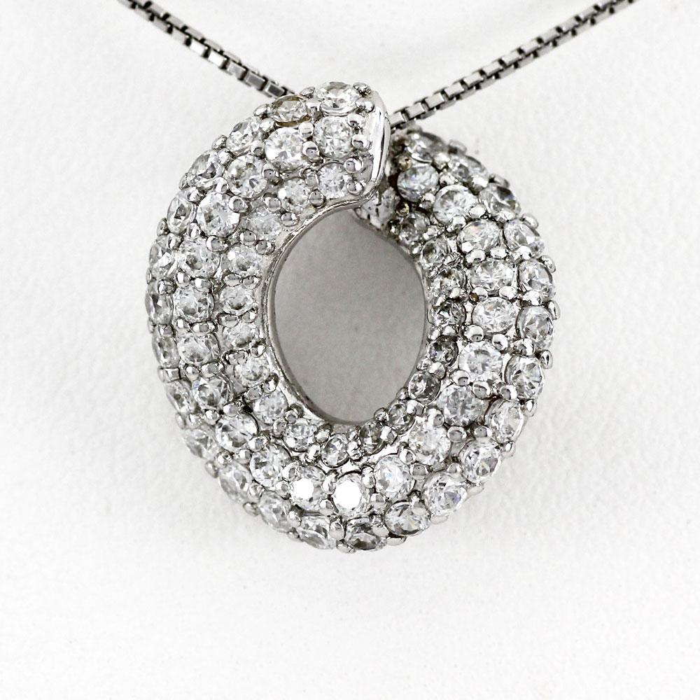 プラチナ ネックレス ダイヤモンド ペンダント レディース パヴェ ゴージャス 1.0カラット pt900