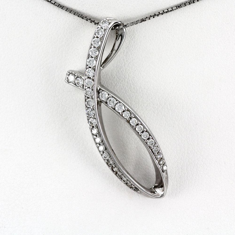プラチナ ネックレス ダイヤモンド ペンダント レディース シンプル カーブ ゴージャス pt900