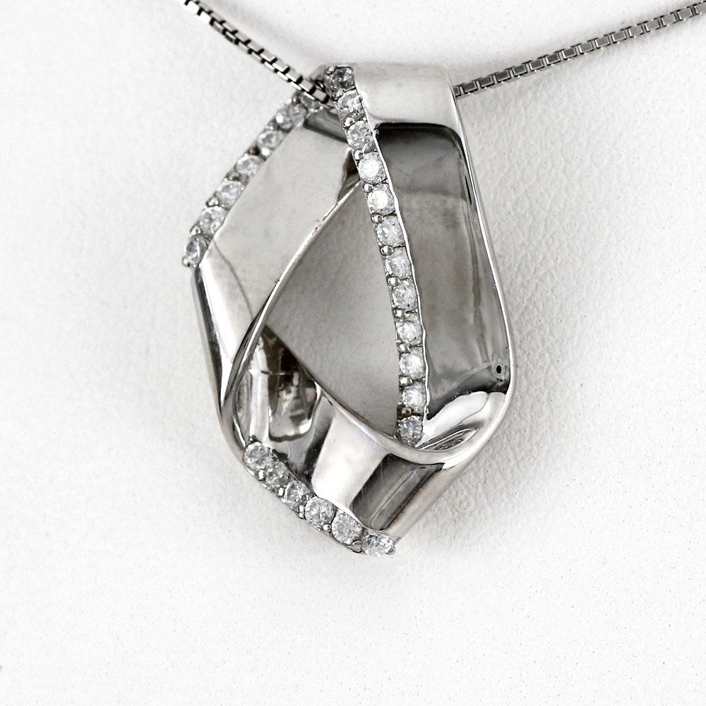 ネックレス ダイヤモンド ペンダント レディース シンプル 地金 ゴージャス ゴールド k18 18k 18金