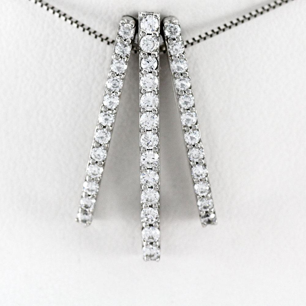 プラチナ ネックレス ダイヤモンド ペンダント レディース ストレート pt900