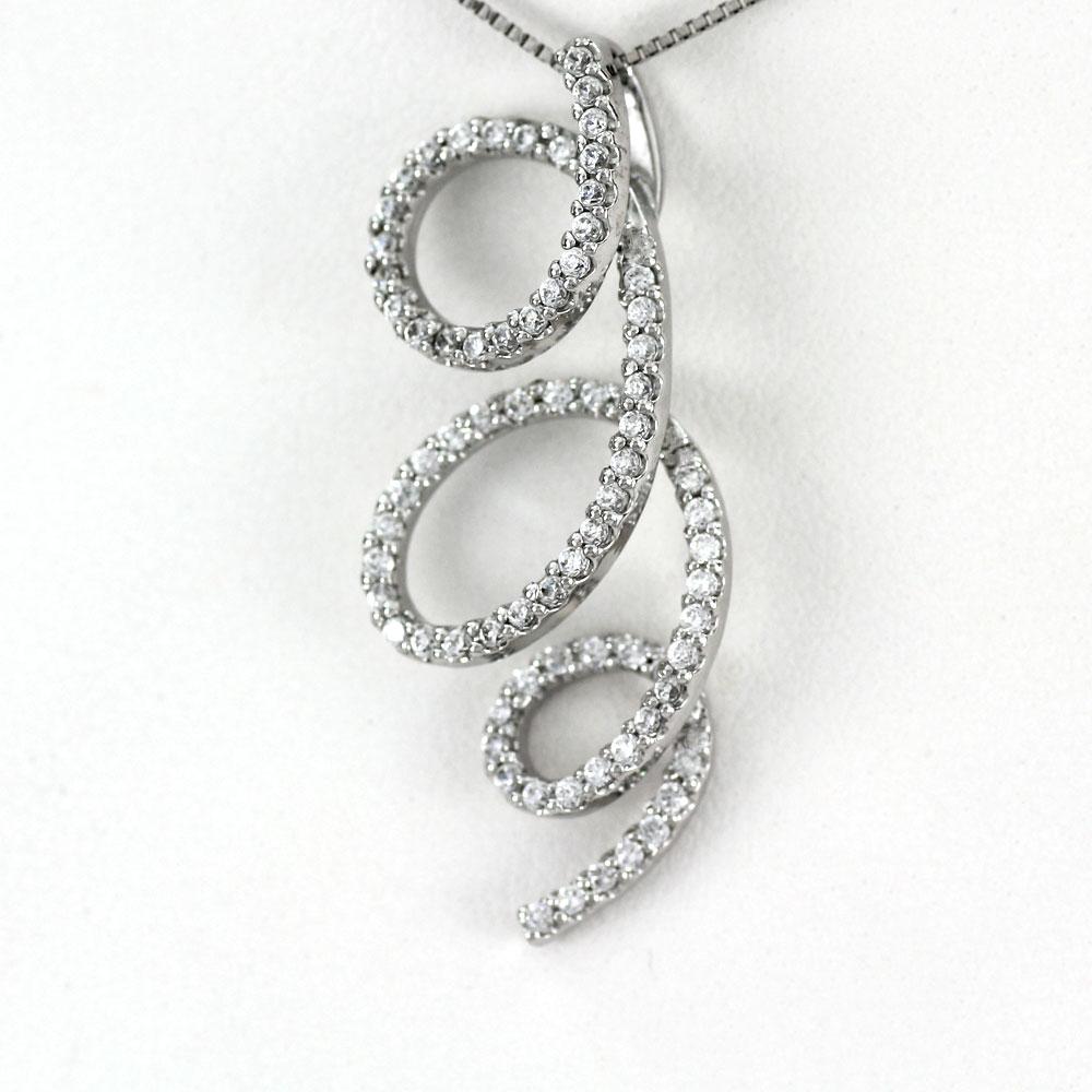 ネックレス ダイヤモンド ペンダント レディース ツイスト ゴージャス 0.5カラット ゴールド k18 18k 18金