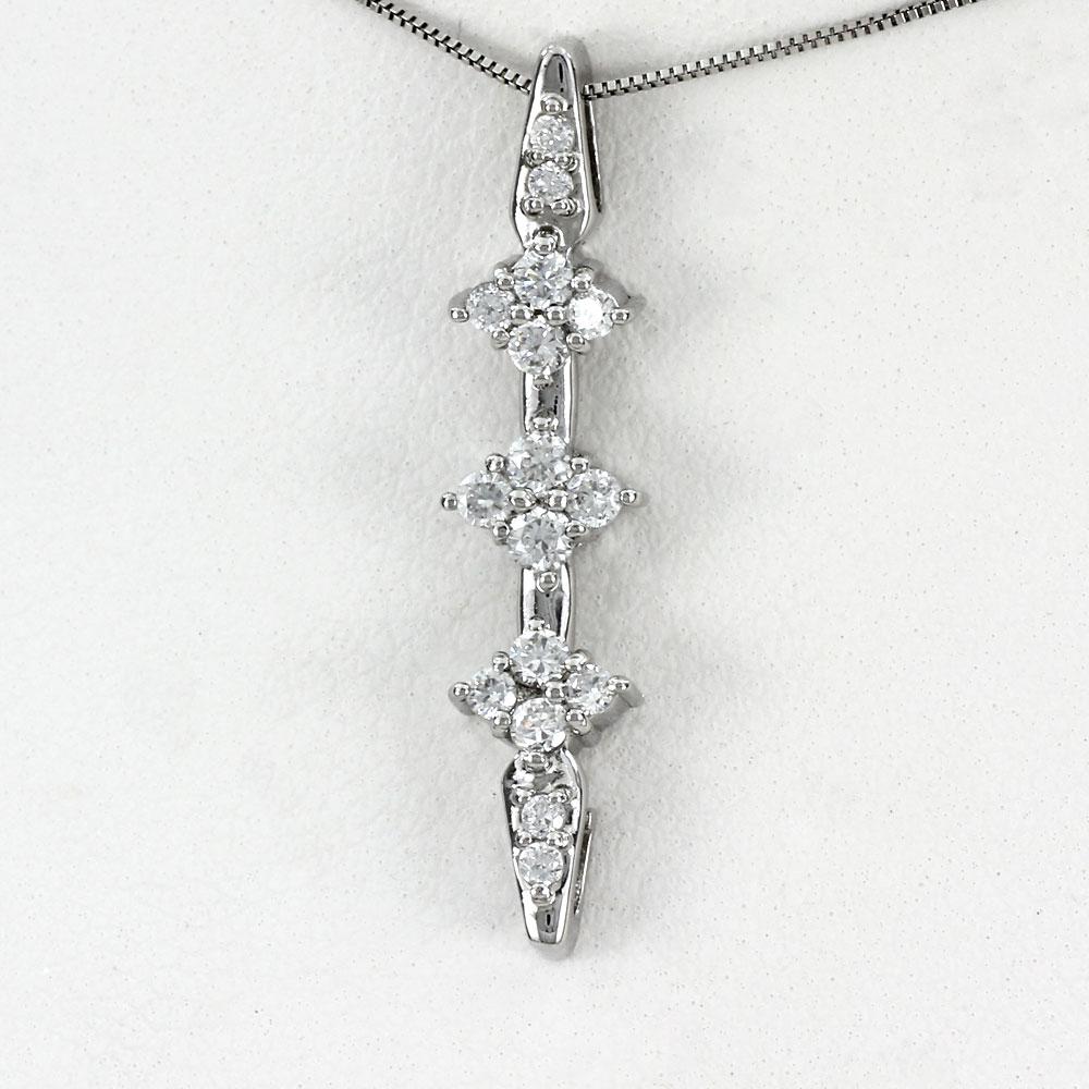 プラチナ ネックレス ダイヤモンド ペンダント レディース フラワー 花 揺れる ブラ pt900