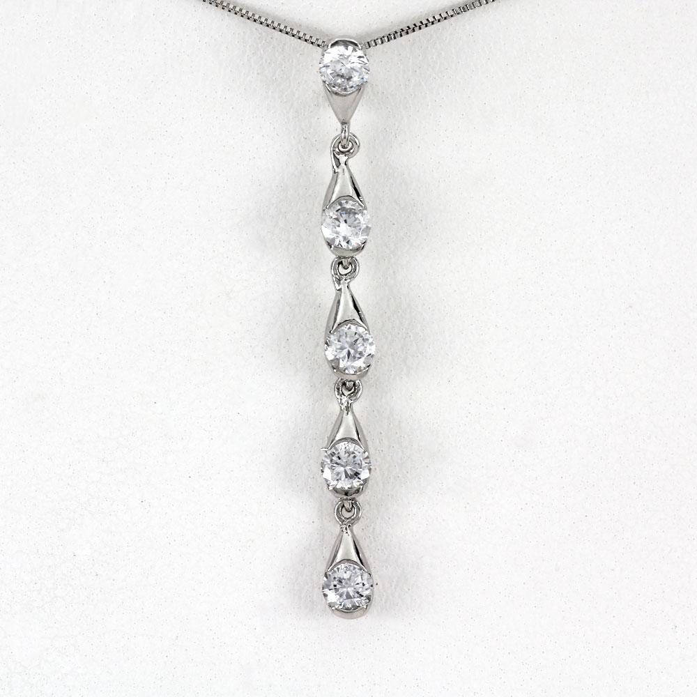 ダイヤモンド ネックレス 一粒 18k ペンダント レディース ドロップ しずく 涙型 揺れる ブラ ゴールド k18 18金