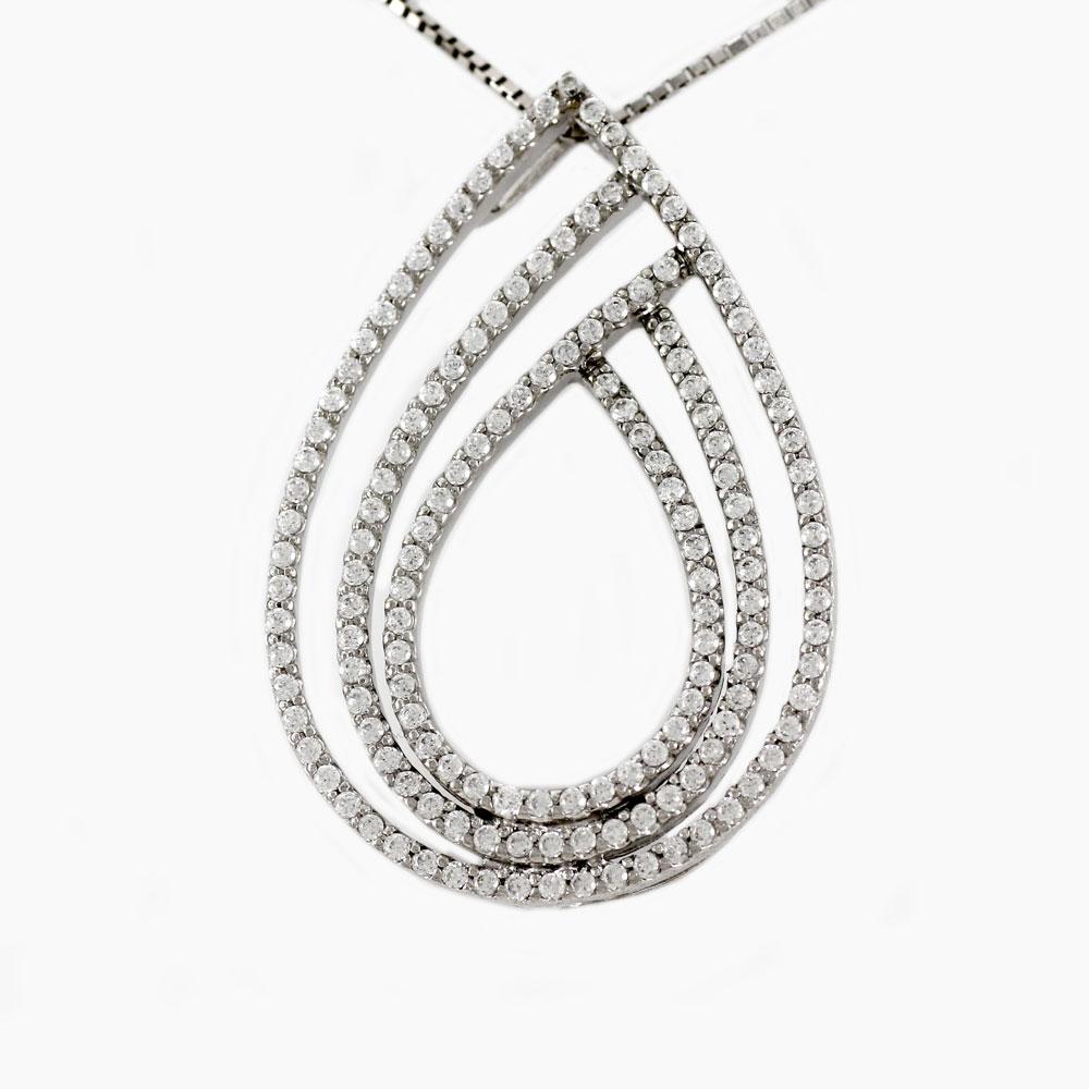 プラチナ ネックレス ダイヤモンド ペンダント レディース ドロップ つゆ ペアシェイプ ゴージャス 1.0カラット pt900