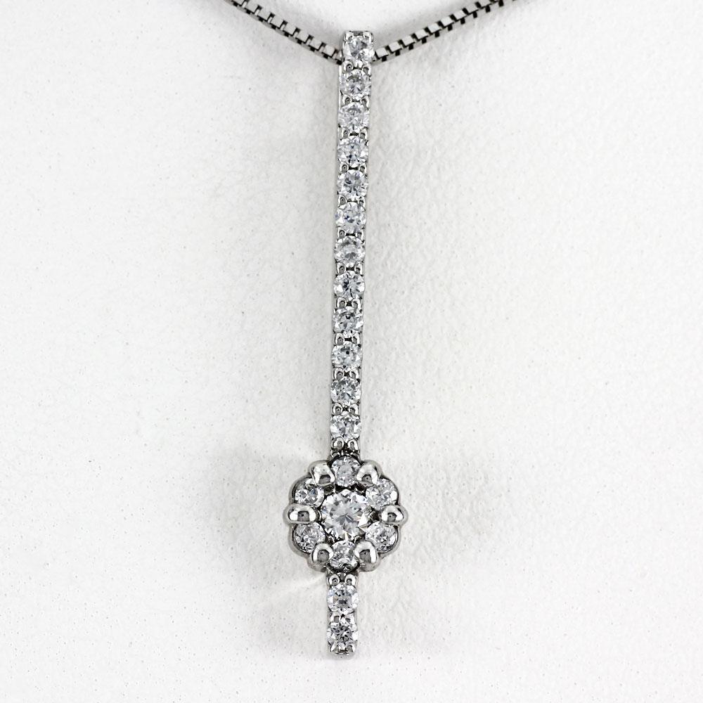 プラチナ ネックレス ダイヤモンド ペンダント レディース フラワー 花 ミステリーセッティング ロング pt900