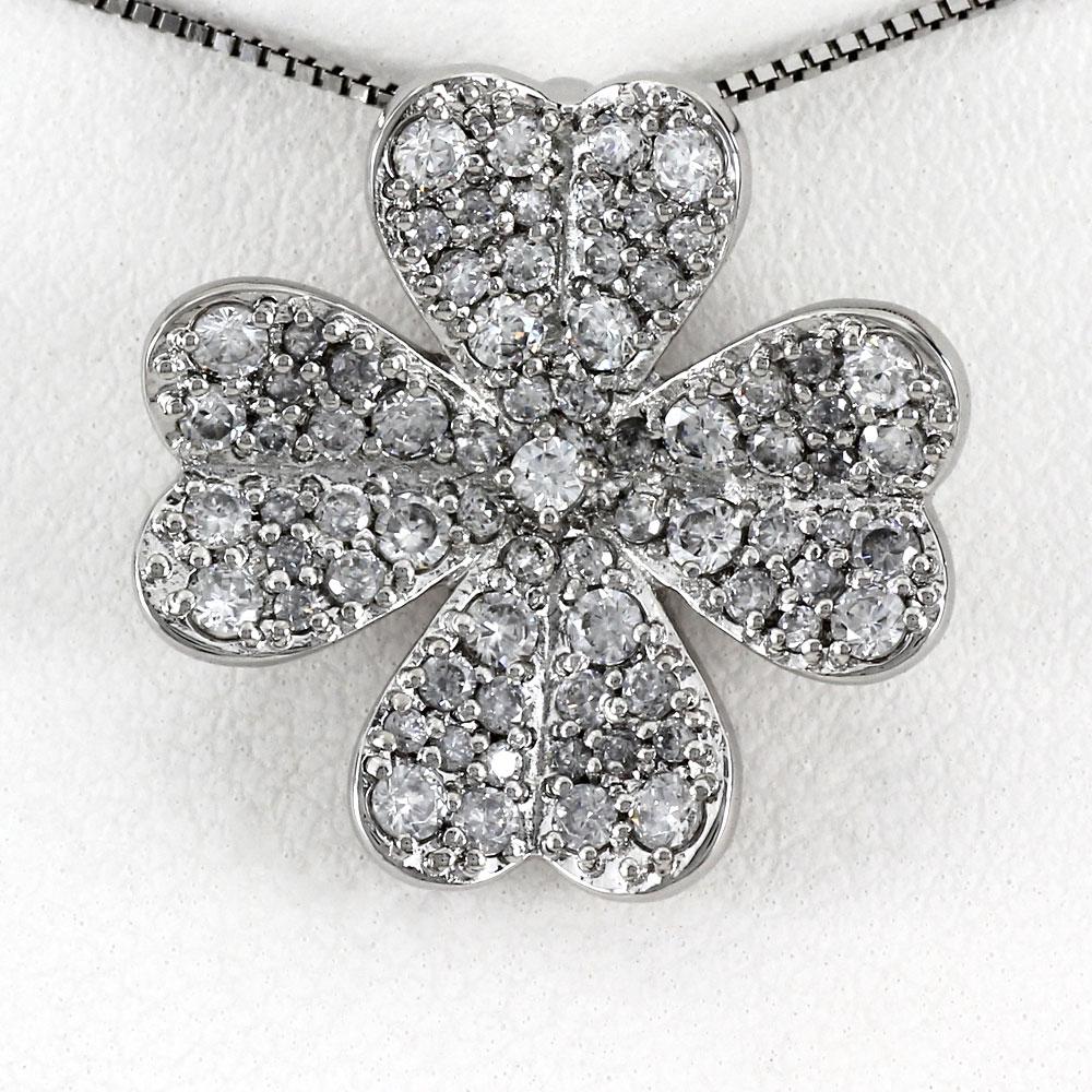 プラチナ ネックレス ダイヤモンド ペンダント レディース パヴェ フラワー 花 ゴージャス pt900
