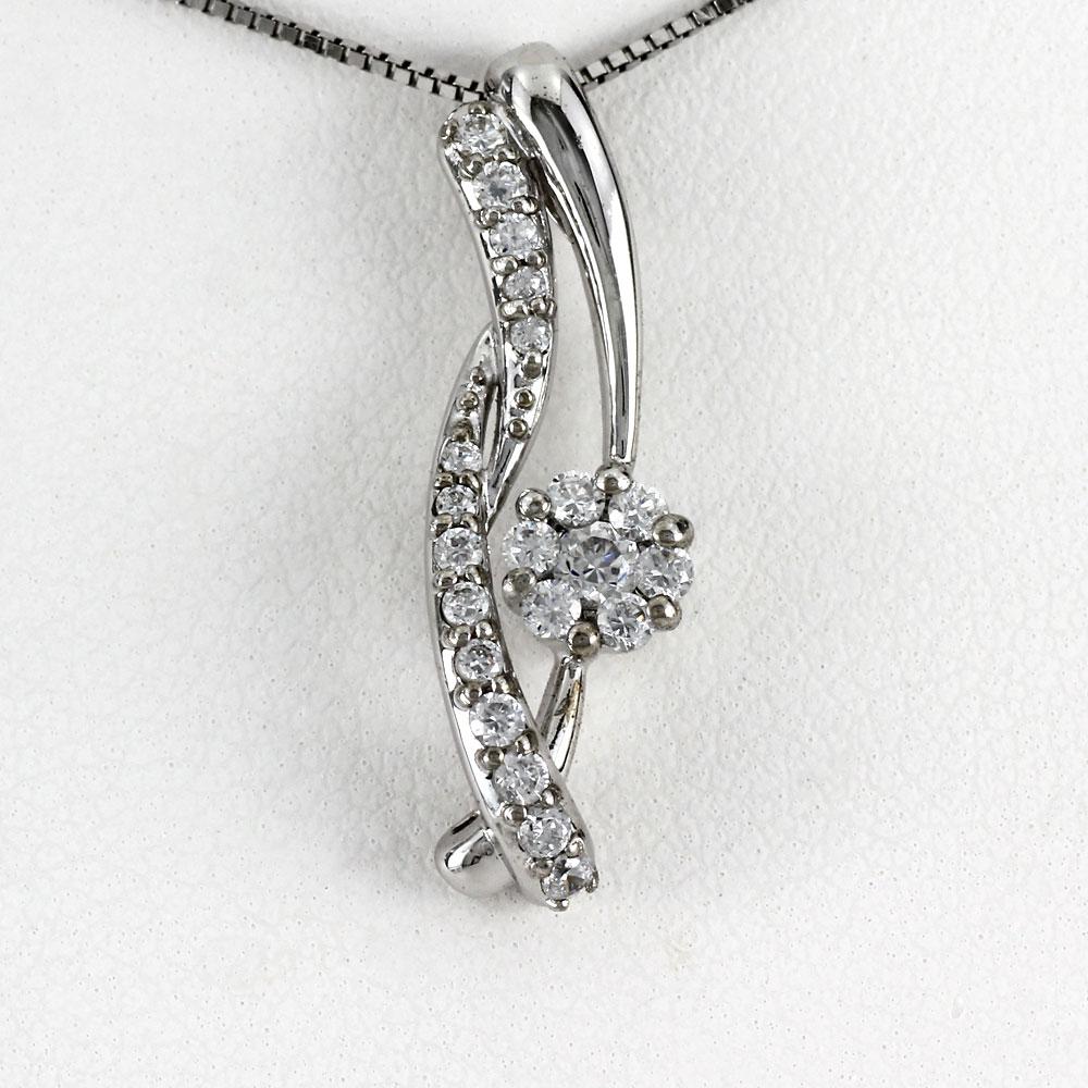 プラチナ ネックレス ダイヤモンド ペンダント レディース フラワー 花 ミステリーセッティング pt900