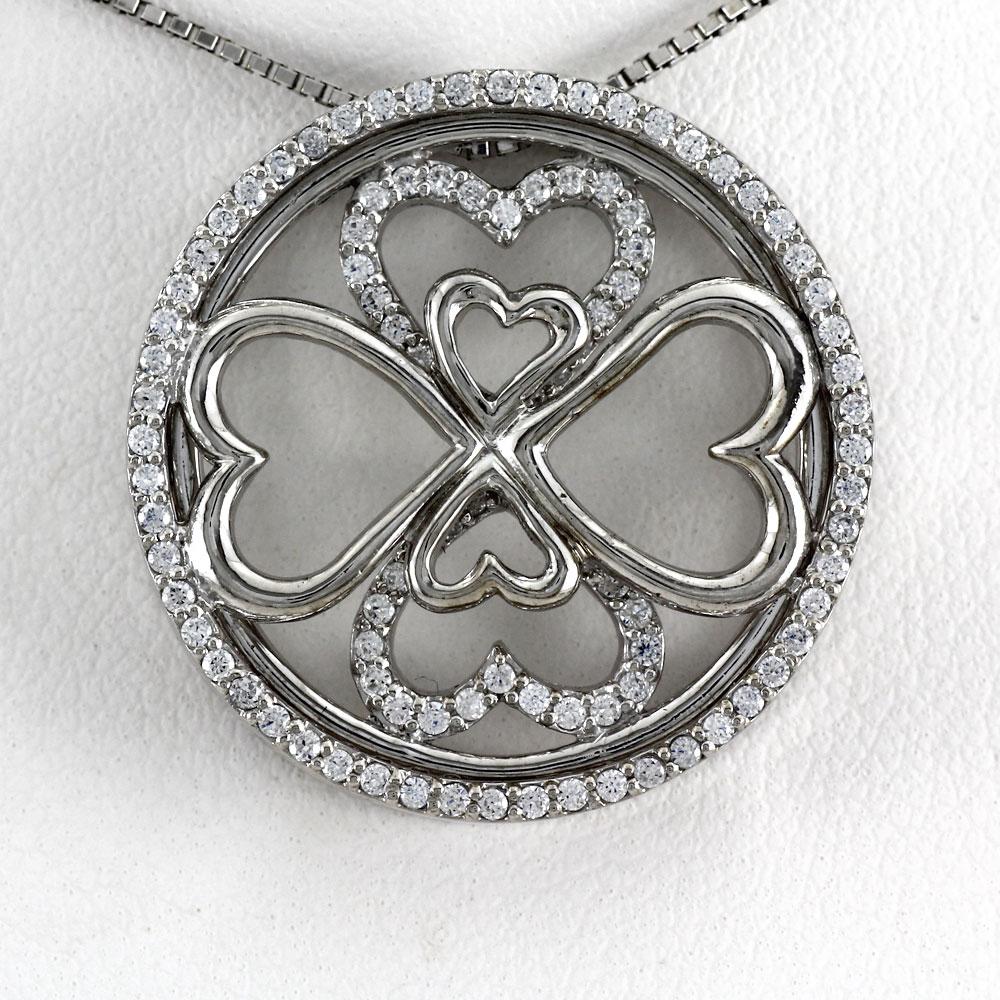ハート ネックレス ダイヤ ペンダント レディース ダイヤモンド プラチナ アンティーク ゴージャス pt900
