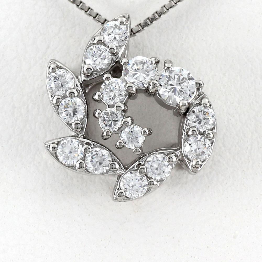 ダイヤモンド ネックレス ペンダント レディース フラワー プラチナ マーキス pt900