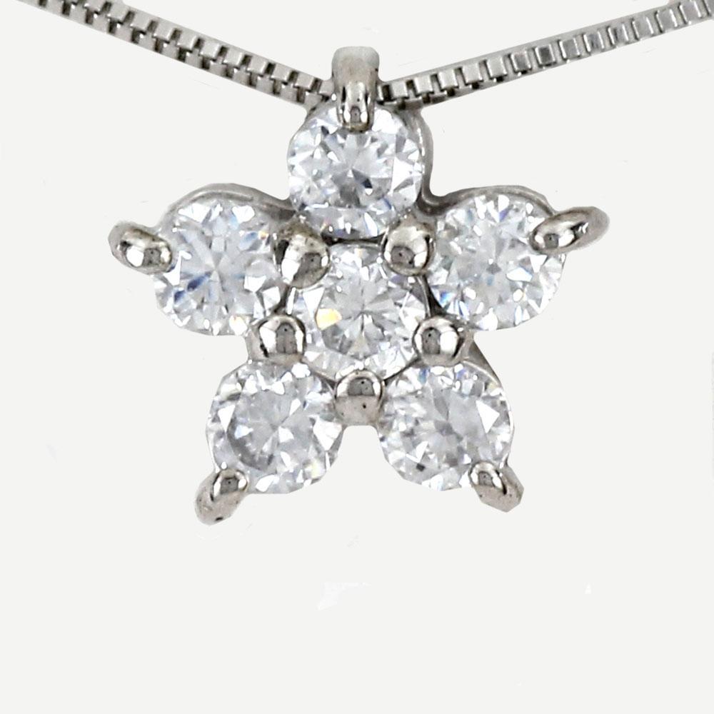 ダイヤモンド ネックレス ペンダント レディース フラワー プラチナ pt900