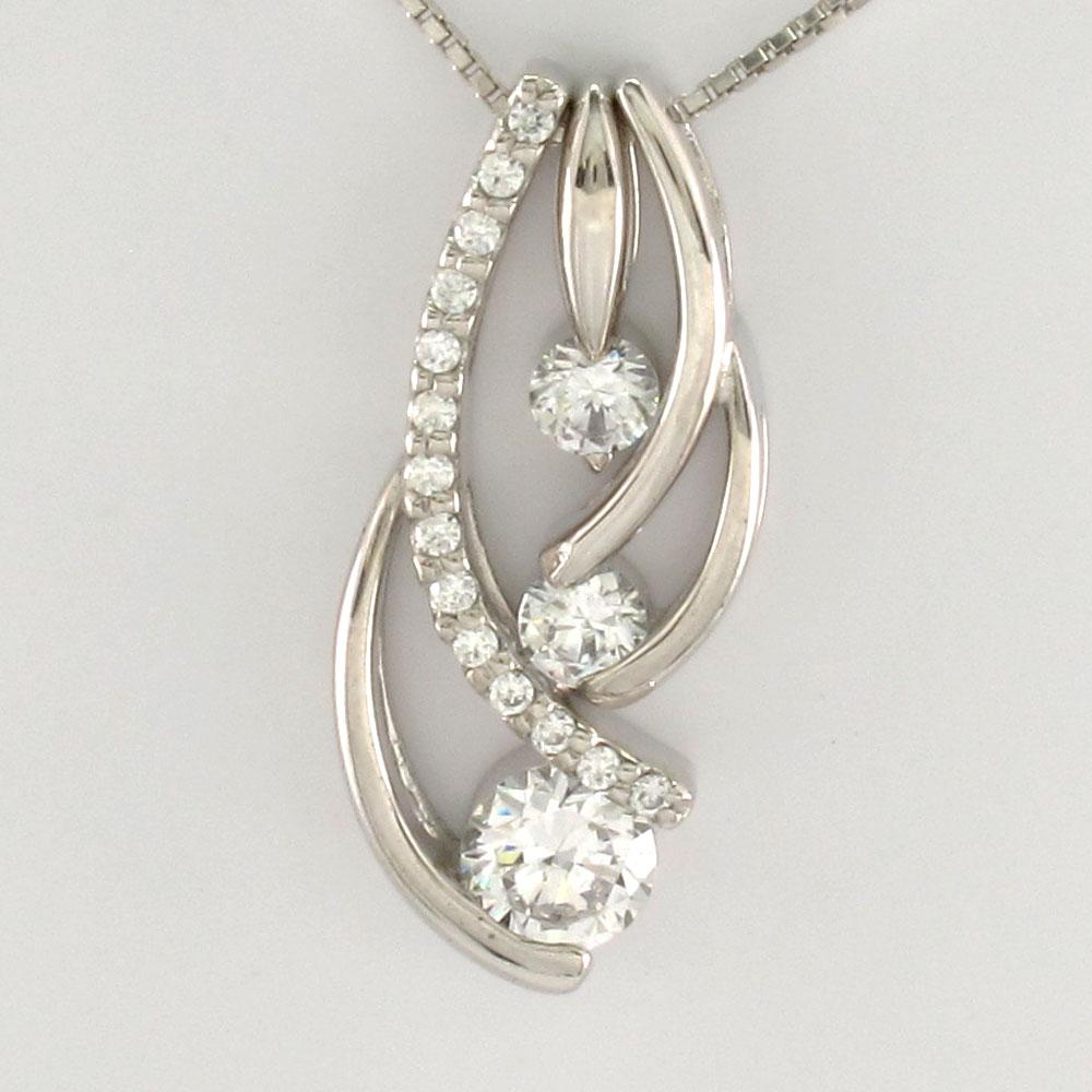 ダイヤモンド ネックレス ペンダント レディース セパレート トリロジー プラチナ pt900 0.5カラット