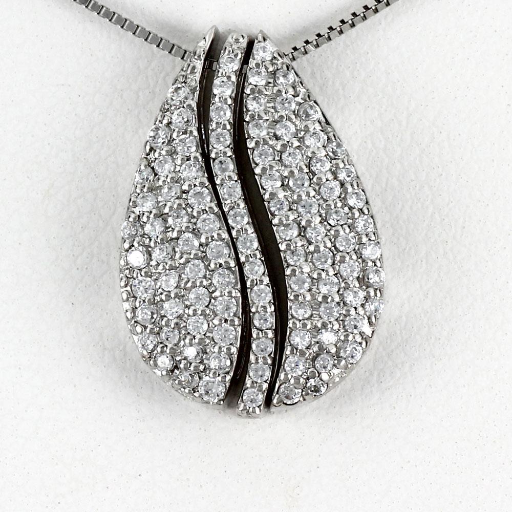 ダイヤモンド ネックレス 18k ペンダント レディース パヴェ 4ウェイ 4way ドロップ つゆ 0.5カラット ゴールド k18 18金